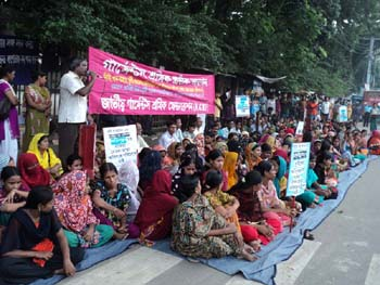 Bangladeshi National Garment Workers Federation Strike