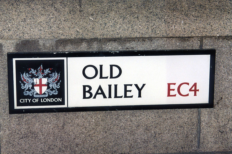 Old Bailey Street Sign