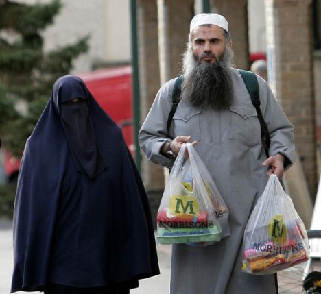 Abu Qatada shopping