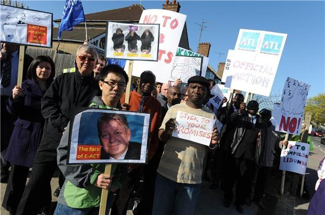 Crest Academy Teachers on strike