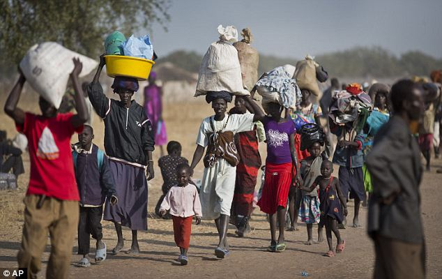 Internally Displaced Persons Fleeing in Awerial, Lakes State (Associated Press)