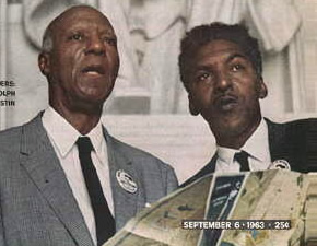 Philip Randolph and Bayard Rustin