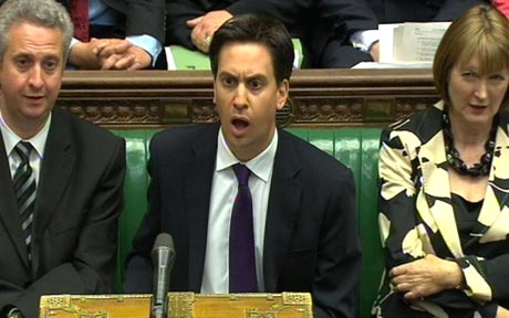 Ed Miliband looking shocked