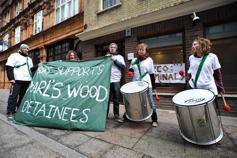 SOAS students showing solidarity with Yarl's Wood detainees