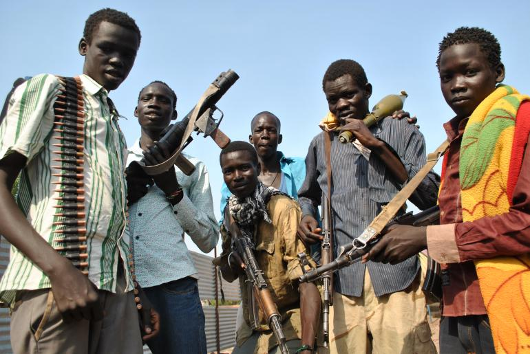 Nuer White Army Youth in Nasir, Upper Nile State